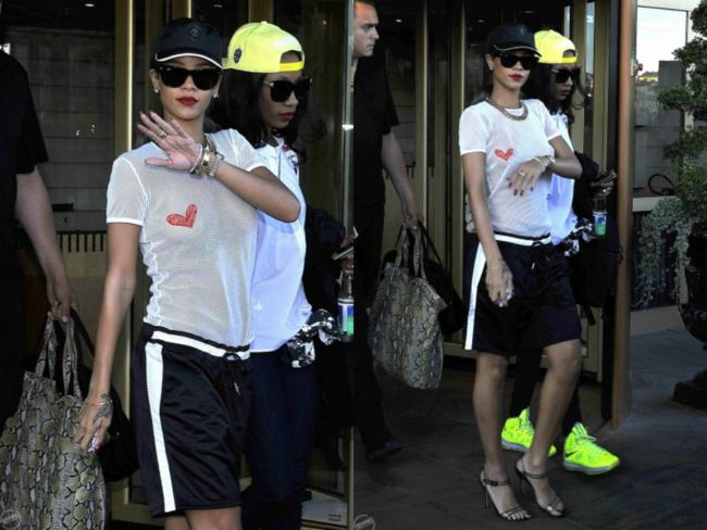 Rihanna sali a la calle sin ropa interior for En la calle sin ropa interior